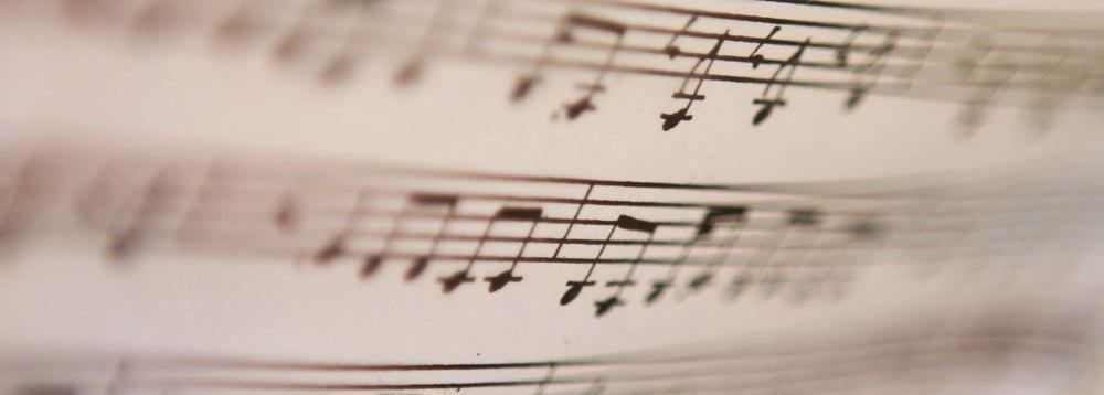 Nærbilde av noter