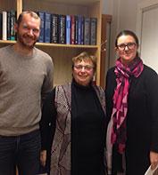 Photo of group: Even Birkeland, Zena Werb and Elisabeth Wik