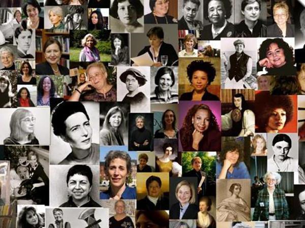 Collage av kvinnelige filosofer
