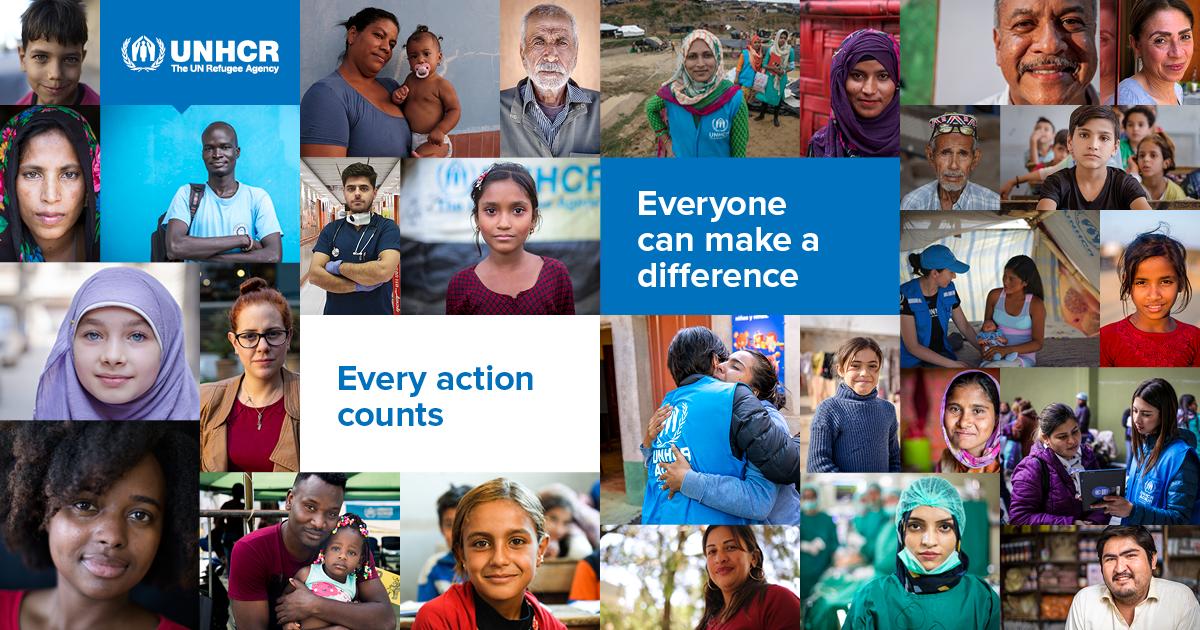 """FN markerer årets kampanje for Verdens dag for flyktninger med slagordet """"alle kan utgjøre en forskjell"""""""