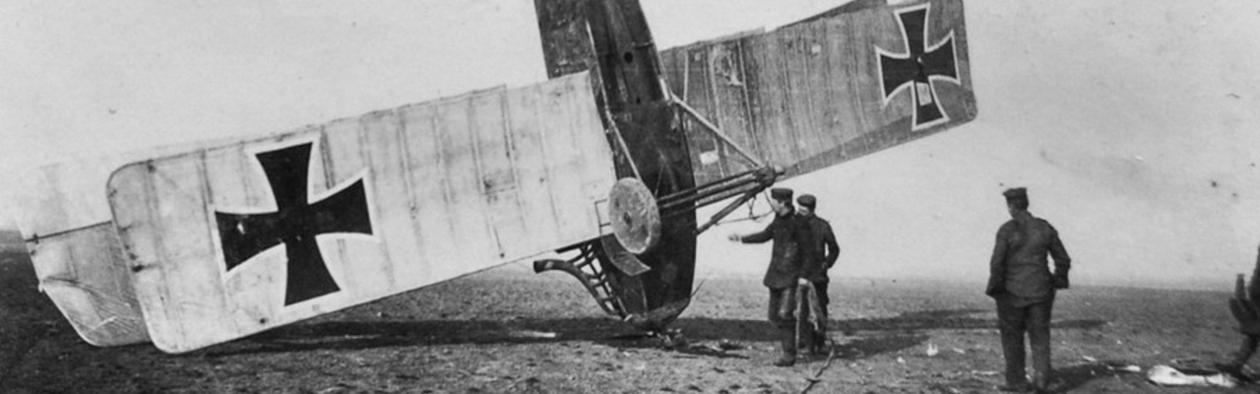 Styrt tysk fly under første verdskrig