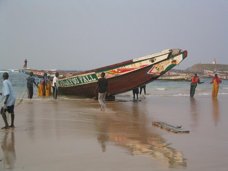 Le retour des pêcheurs à Yoff (Dakar, Sénégal)