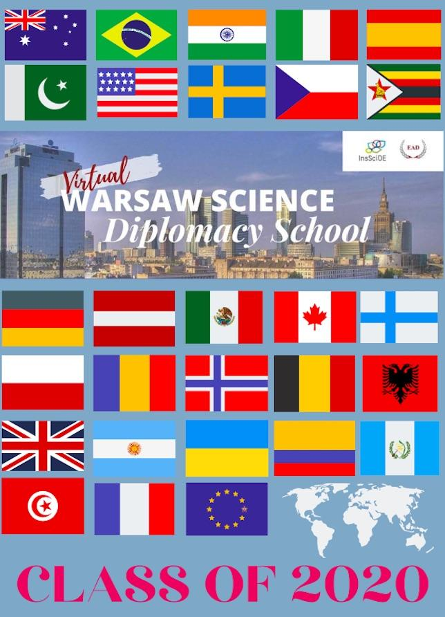 Poster for Warsaw Science Diplomacy School, June 2020