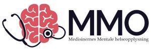 MMO logo: hjerne med stetoskop