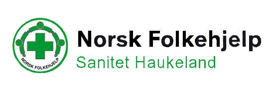 Logo Norsk folkehjelp Sanitet Haukeland