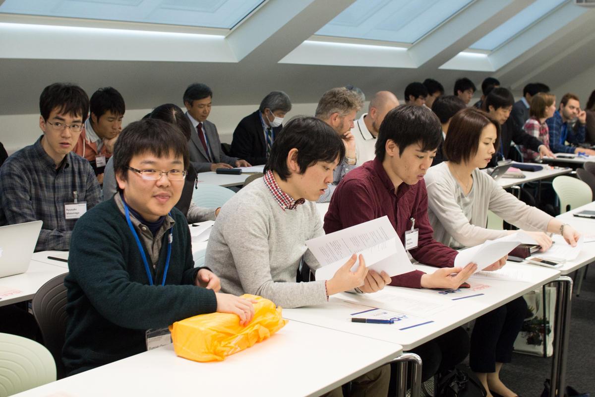 Auditoriet i Bjerknessenteret var fullstappet. Fumiaki Ogawa forrest til venstre.