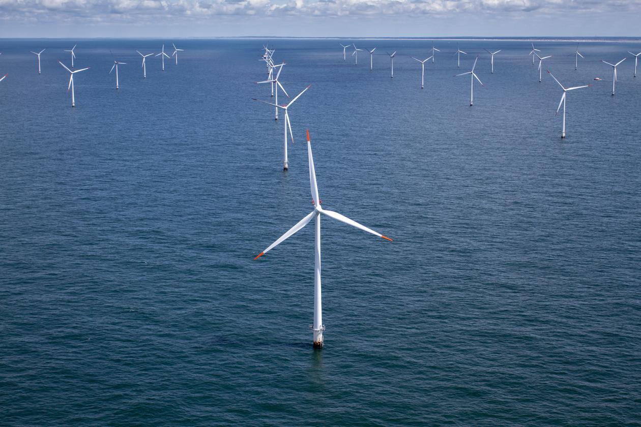 illustrasjonsbilde vindmøller i rutenett