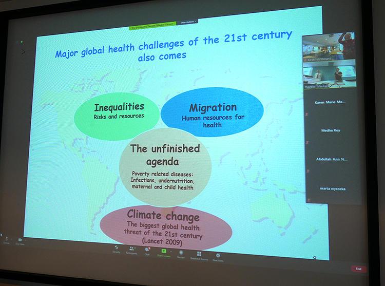 screen shot Global Health