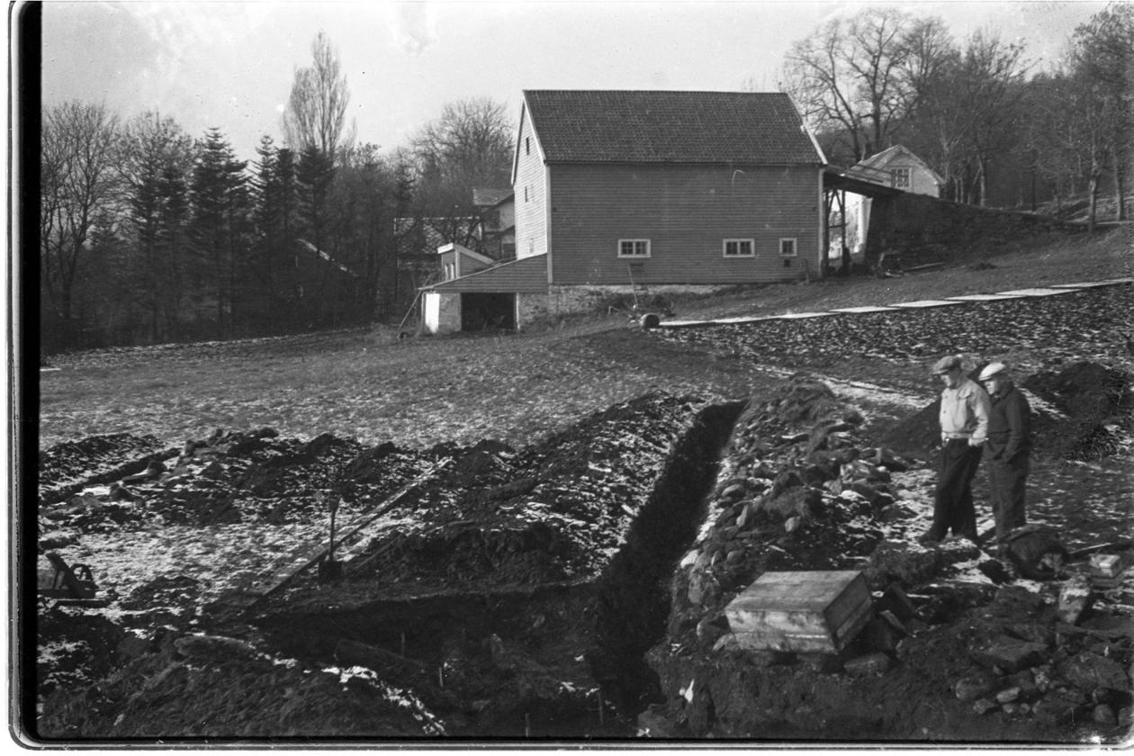 Utgravning av Prestegårdsjordet på Borgund i 1940