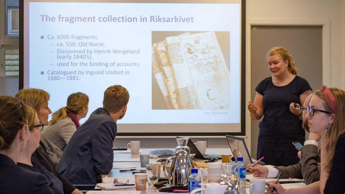 Presentasjon av middelalderfragmenter