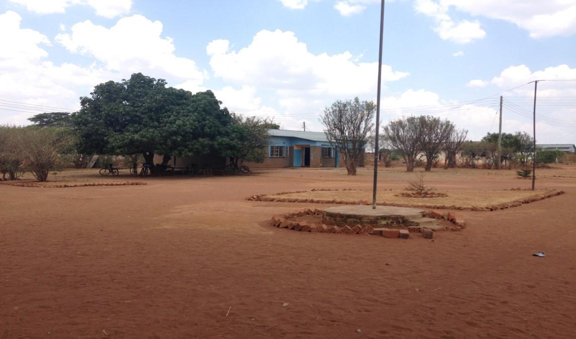 school yard in rural Zambia
