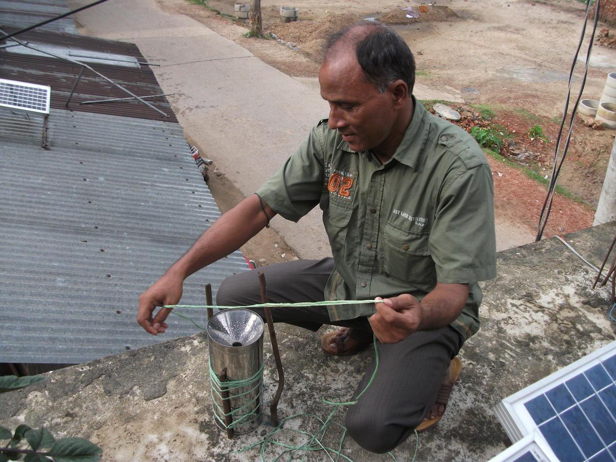 Measuring rainfall and humidity Sylhet Bangladesh