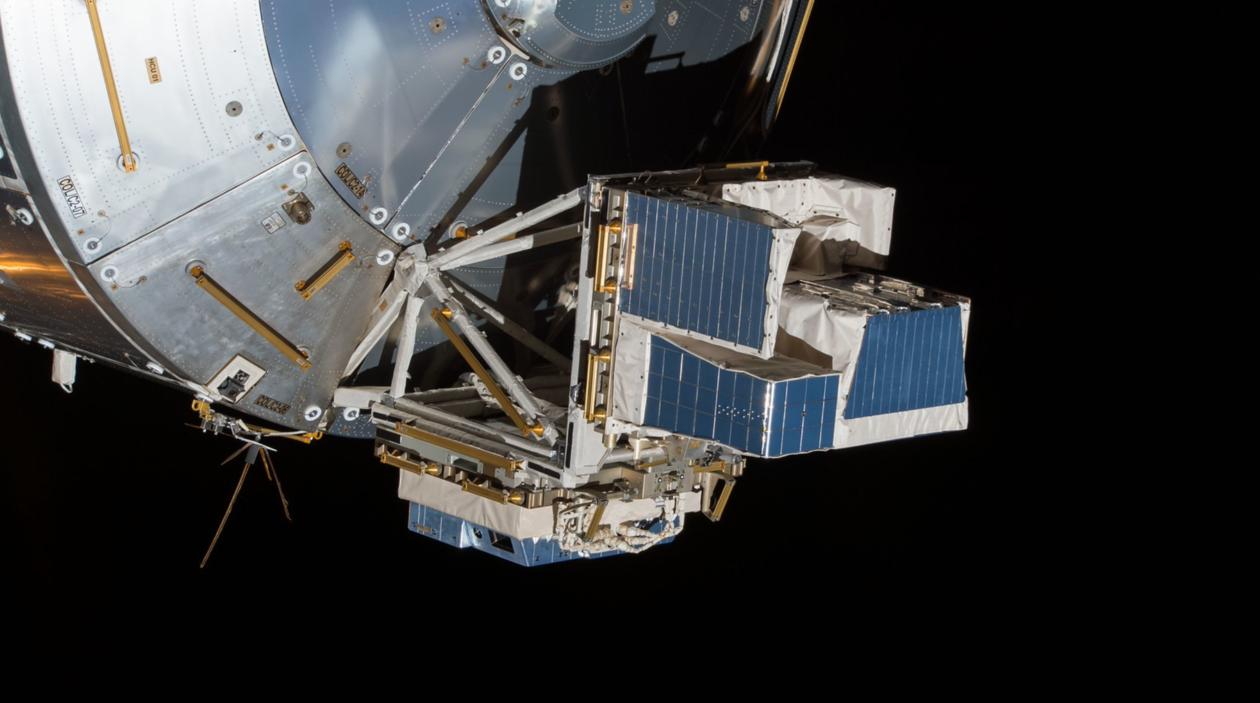 ASIM montert på den internasjonale romstasjonen