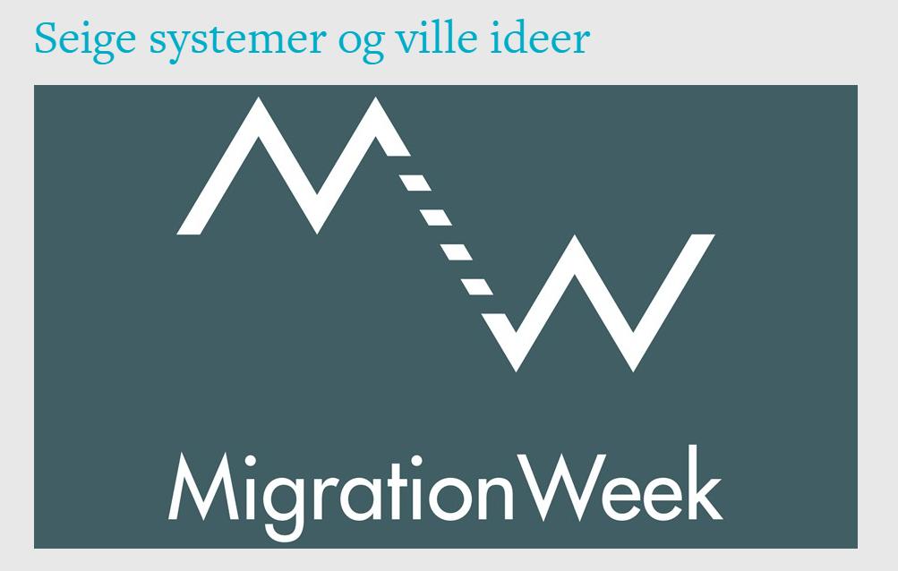 Screenshot from logo MigrationWeek at Litteraturhuset
