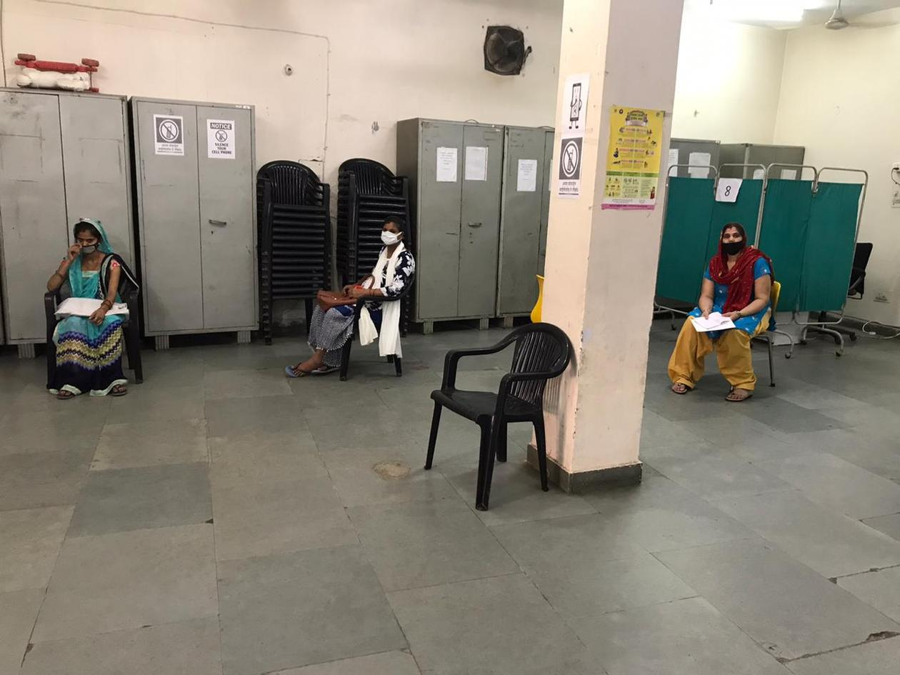Social distancing at outreach clinic