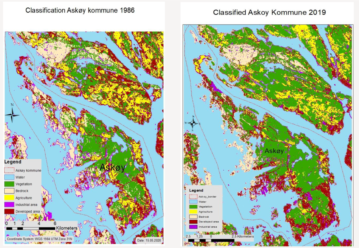 Tommy Stamnesfet Loddengaard studied landcover change over 30 years for Askøy
