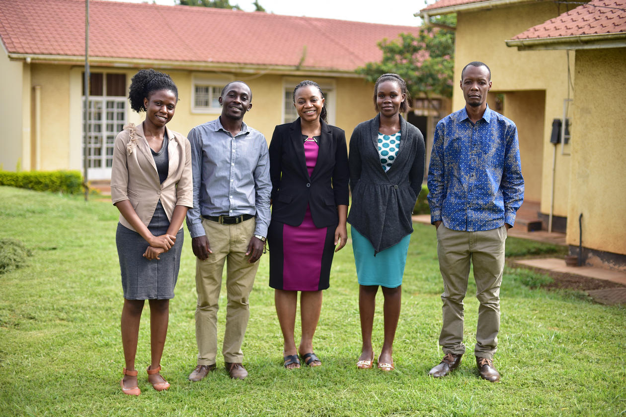 Phyllis Awor and her team at the School of Public Health