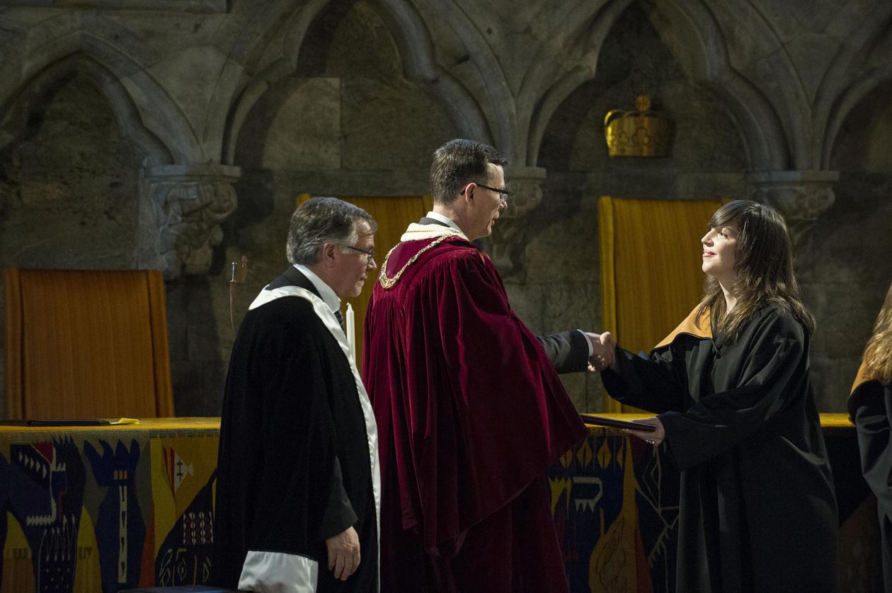 Jelena Mrdalj gets her PhD diploma
