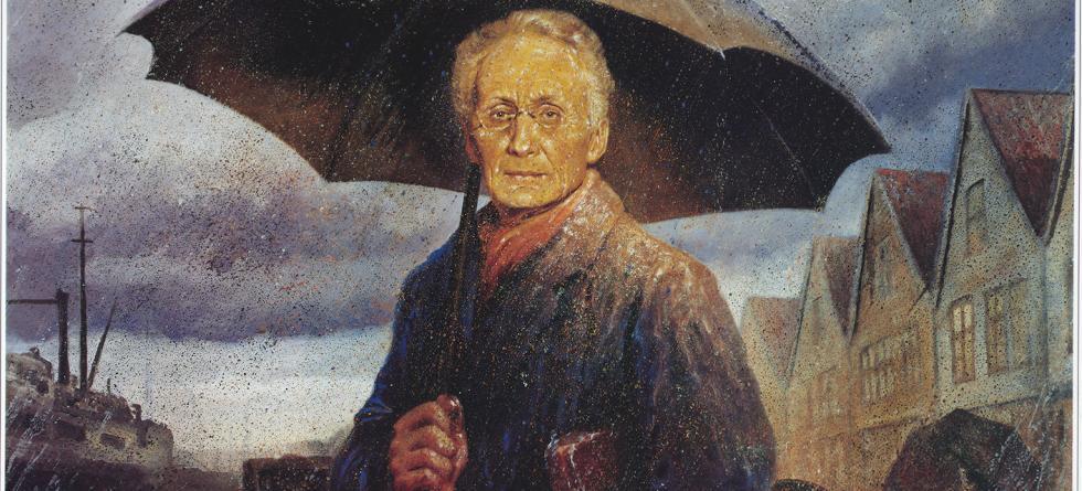 Vilhelm Bjerknes maleri av Rolf Groven