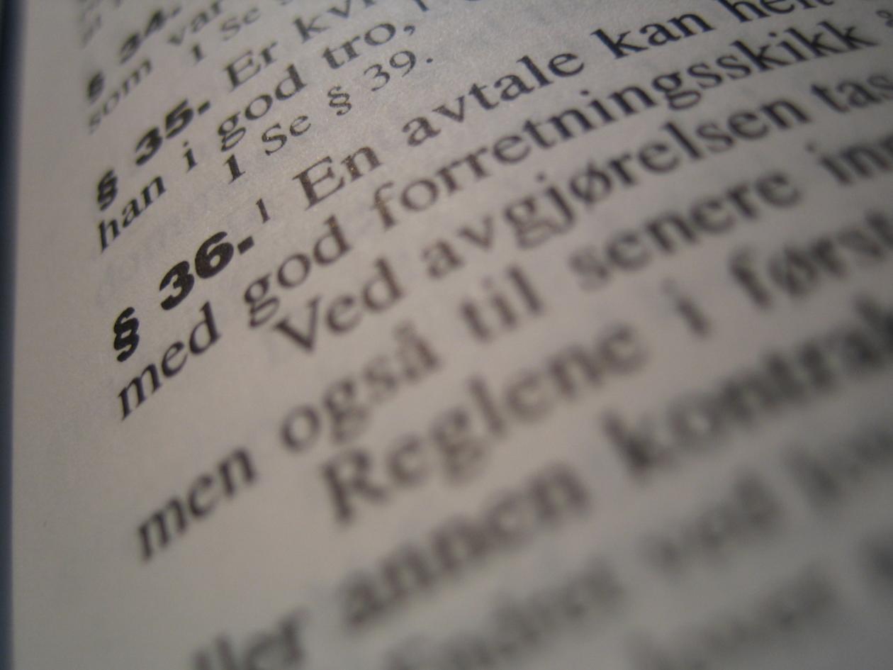 Illustrasjonsfoto brukt ifm saken «Norwegian law in the global arena» i Hubro...