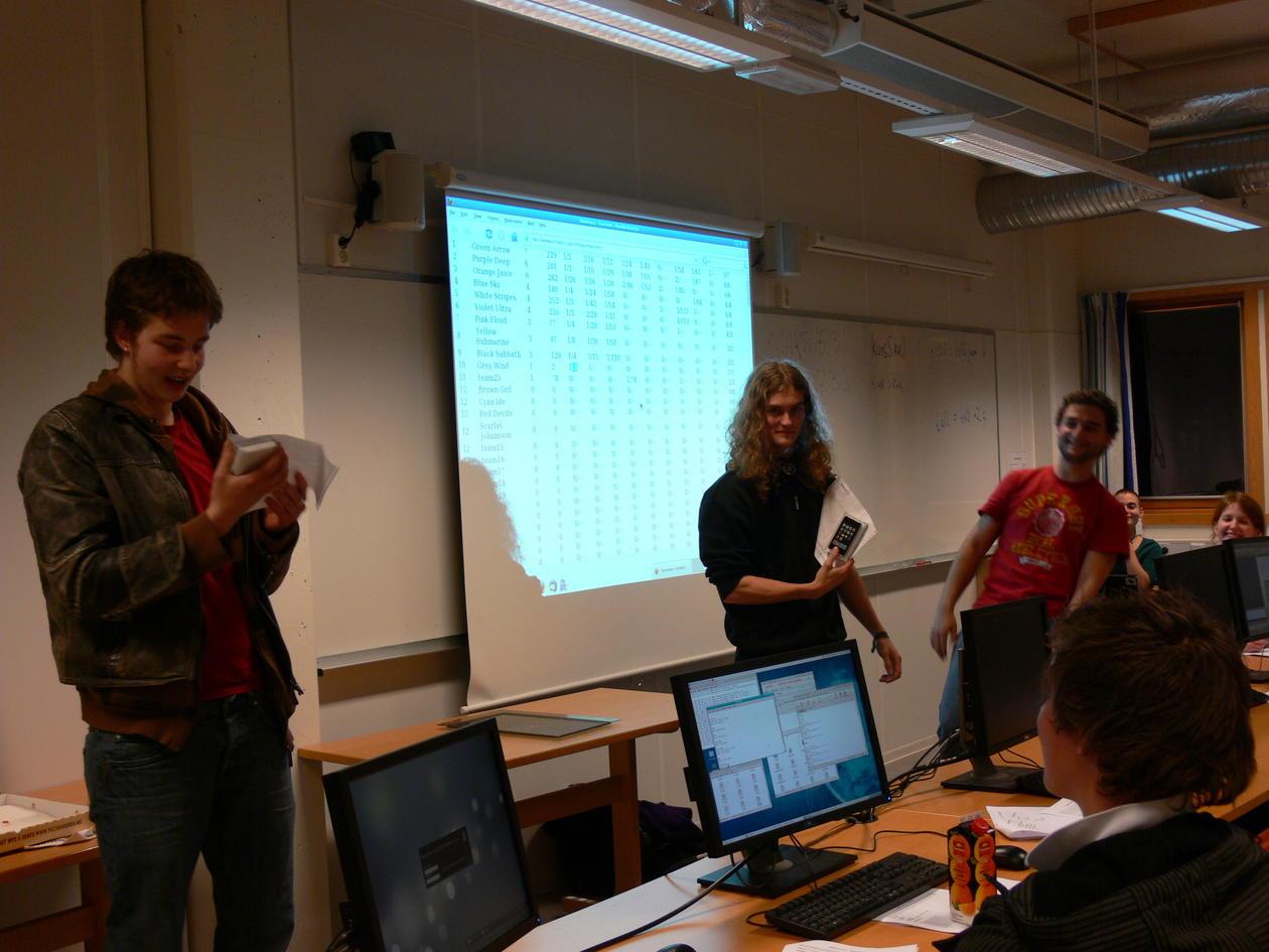 Vinnerne av konkurransen foran resultatlisten.