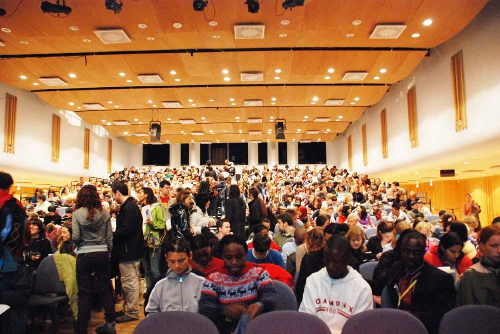 Last year's introduction day in the grieg hall.