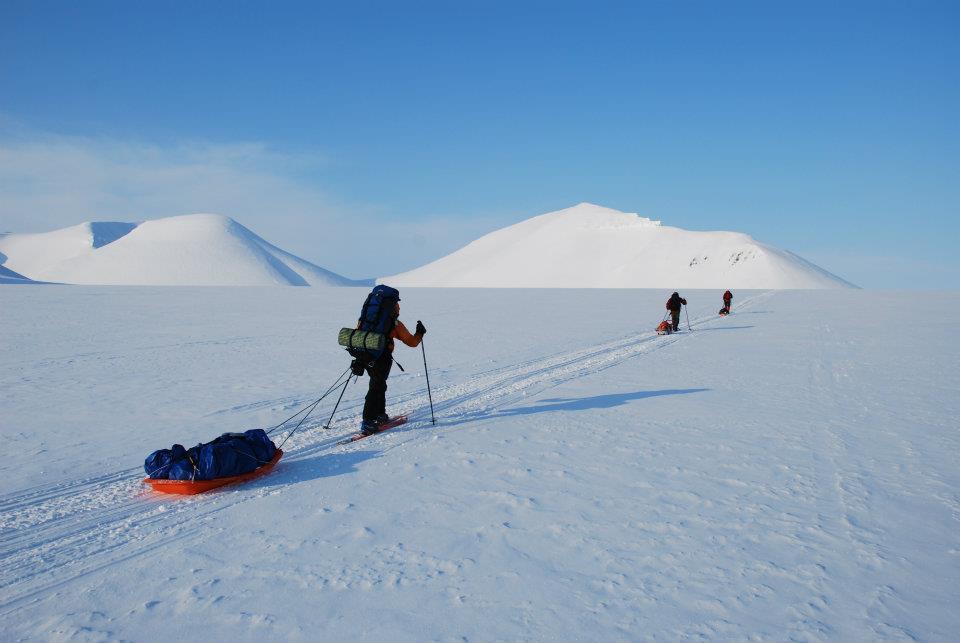 Påsketur med pulk og ski.