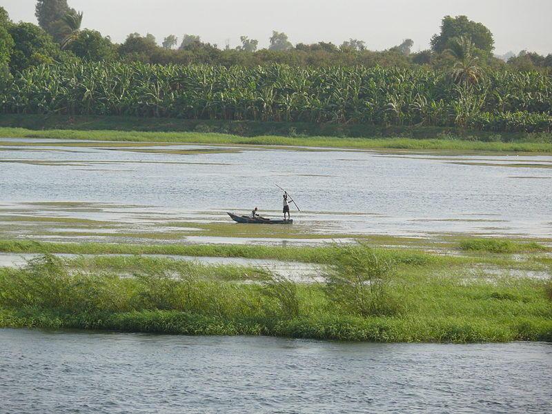 Fiskere på Nilen. Flere av programpostene dreier seg om elven.