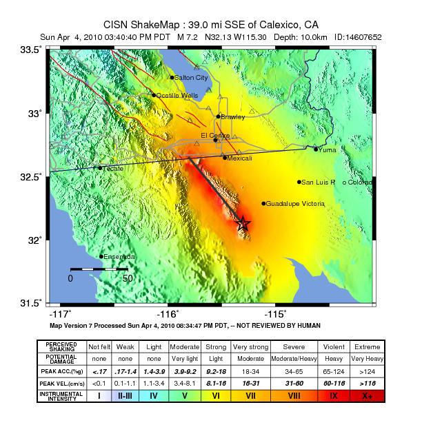 USGS shake map