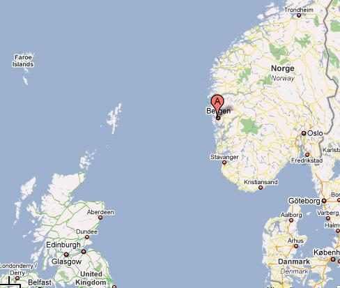 Map University Of Bergen - Norway map bergen