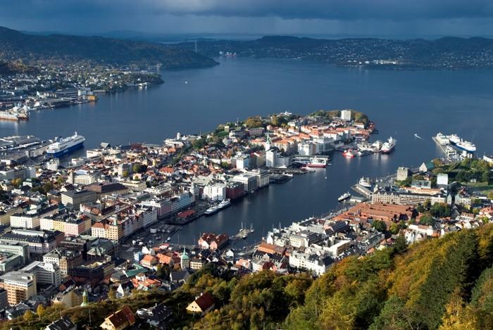 Utsikt over Bergen