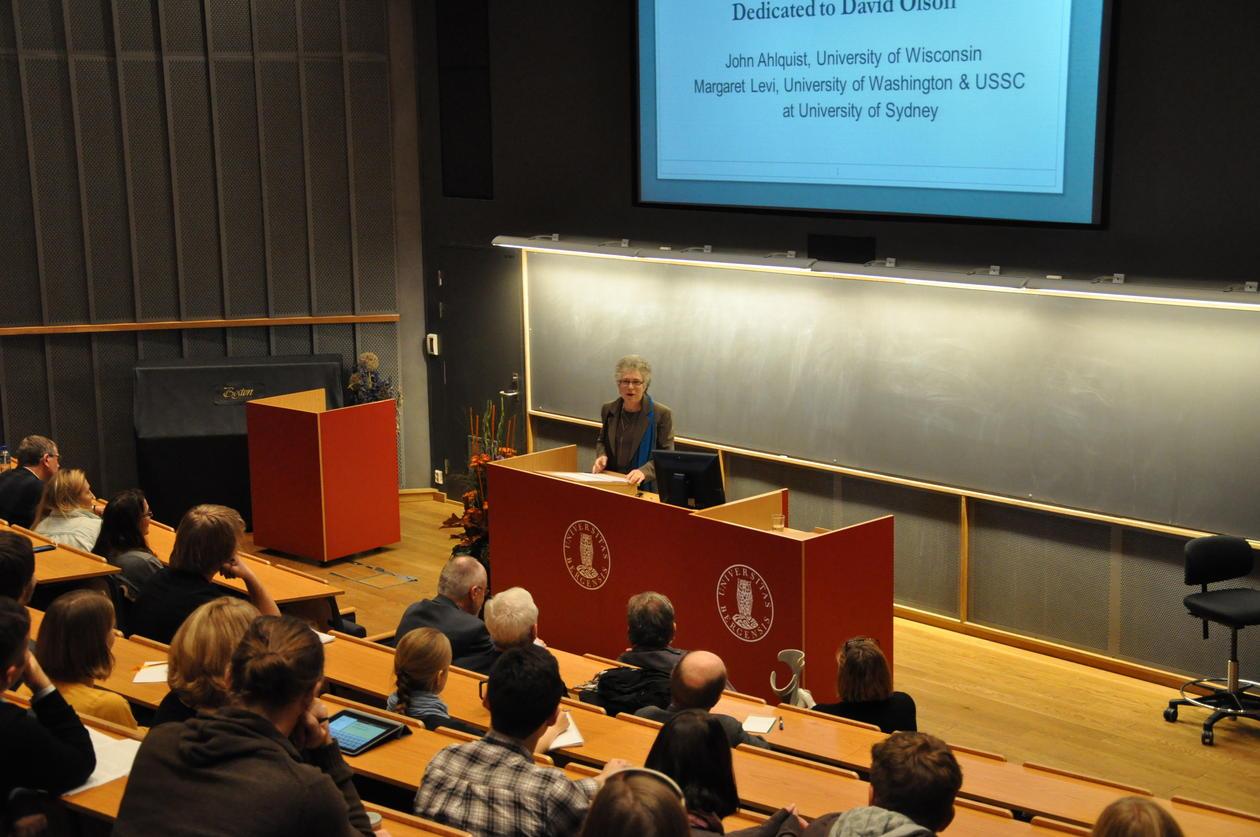 Margaret Levi, Rokkanforelesningen 2012