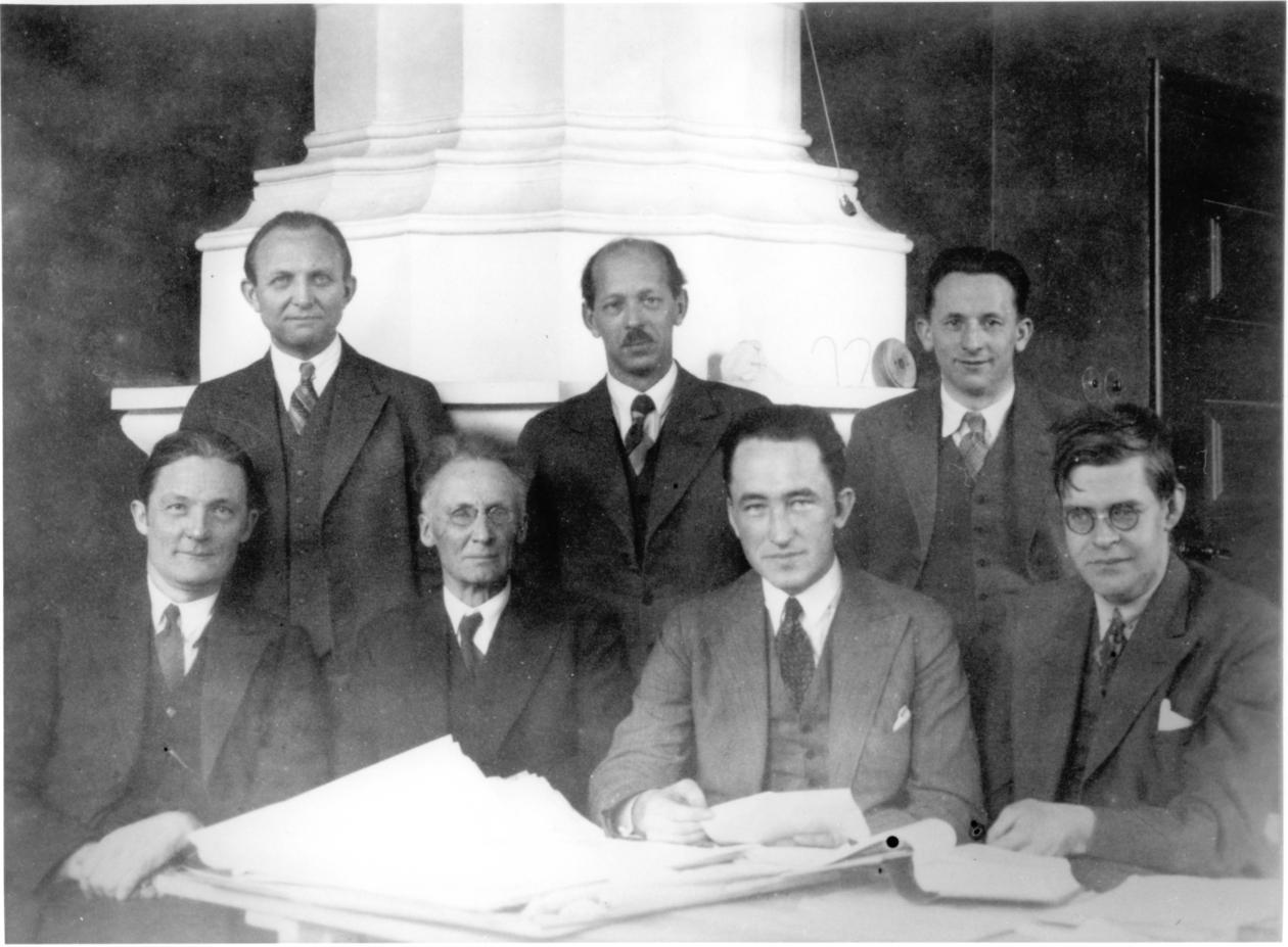 Vilhelm Bjerknes og kollegaer, 1934...