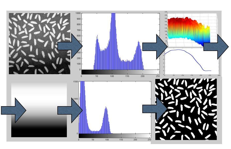 Bildebehandling: Eksempel av segmentering av bilde