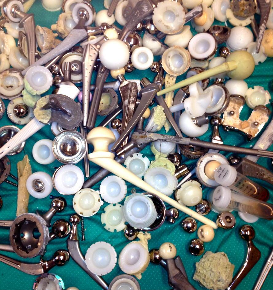 Collection of orthopedic implants.