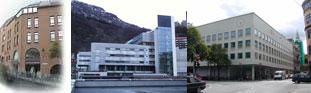 Det psykologiske fakultet er fordelt på tre bygg