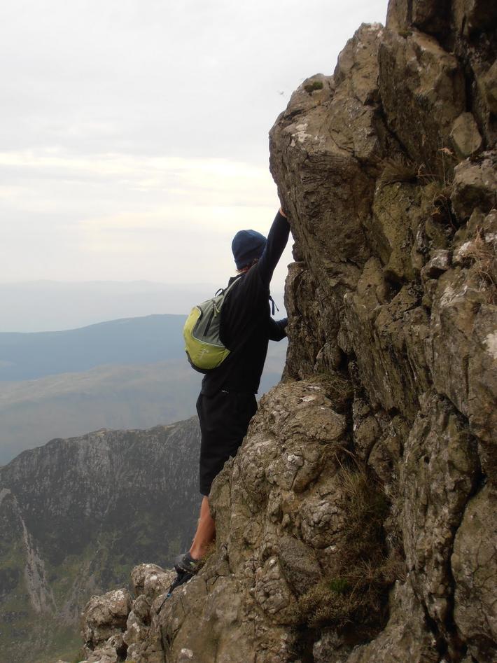 Cadair Idris er ein fjelltopp i Snowdonia som Mikkel besøkte med den lokale...