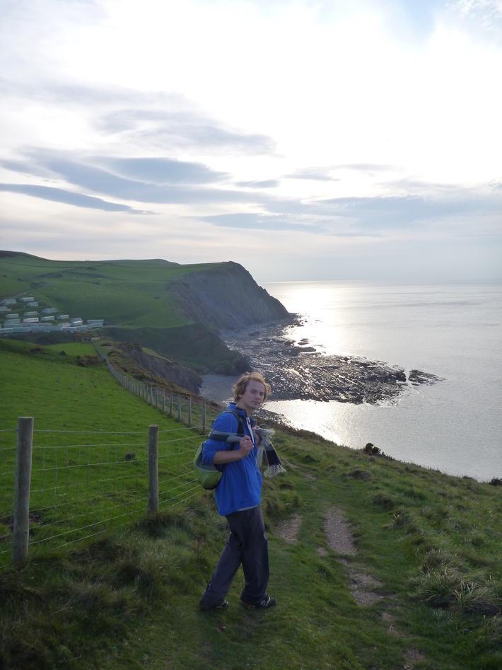 Coastal Path, ein sti som går langs heile kysten av Wales. Her eit lite...