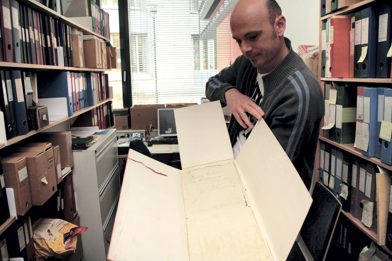 The archaeologist Alexandros Tsakos is already at work cataloguing and...