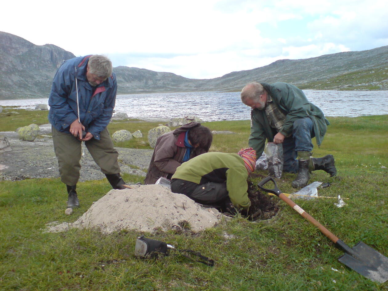 Archaeological fieldwork at Hardangervidda