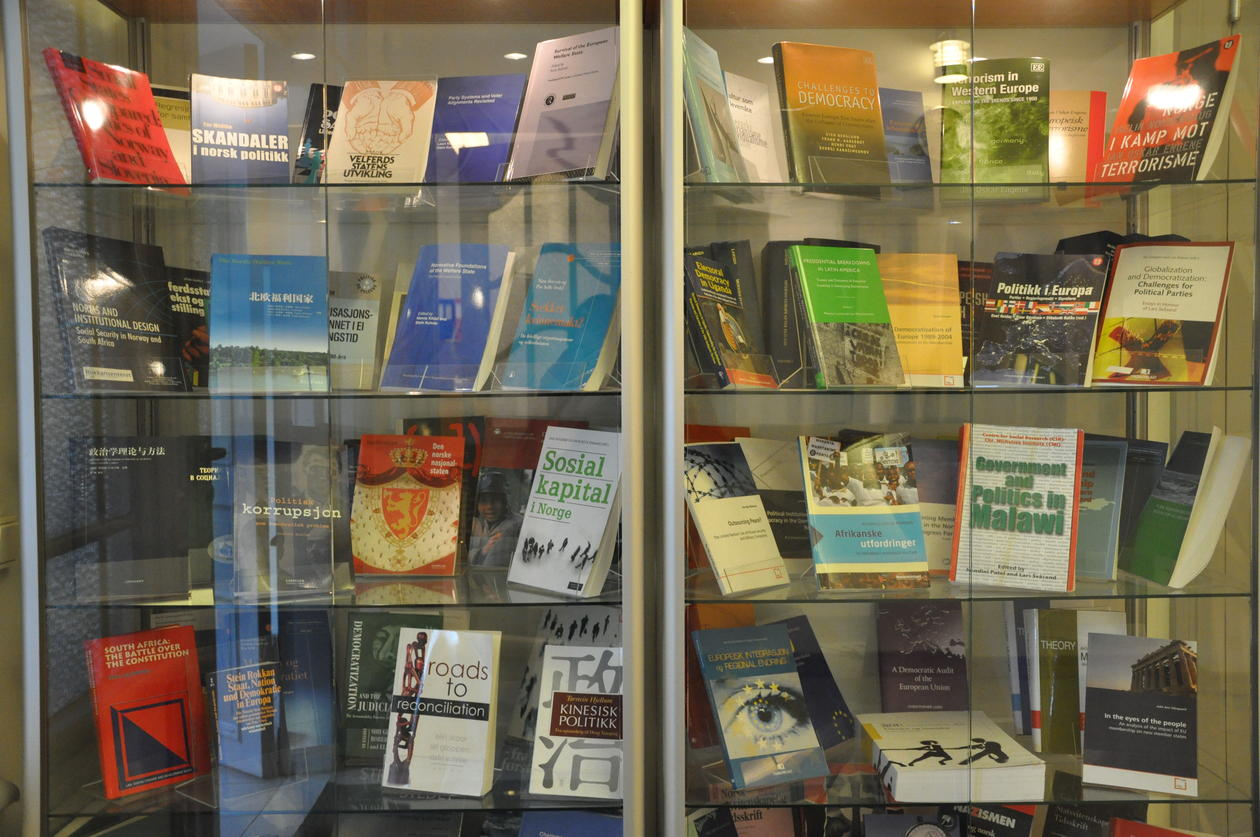 Display of selected publications from the staff