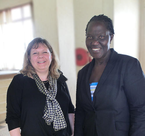 Ingvild Hope, international project advisor, UiB and Elisabeth Bwanga,...
