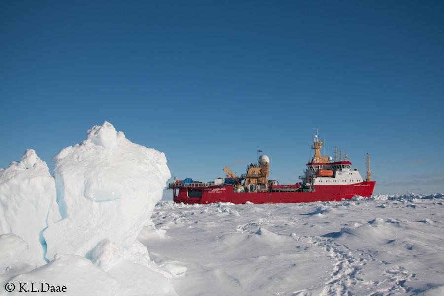 Isbryteren Ernest Shackleton. Foto: Kjersti Lundmark Daae