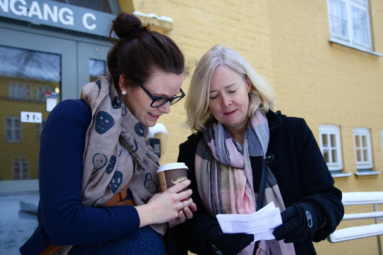 Maren Gramstad Larsen og Bente Nilsen er begge realfagslærere fra U.Phils...