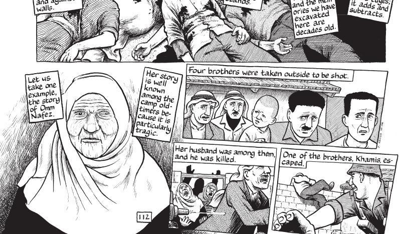 """Joe Saccos """"Footnotes in Gaza"""" kom i 2010 ut på norsk og spenner over mer enn..."""