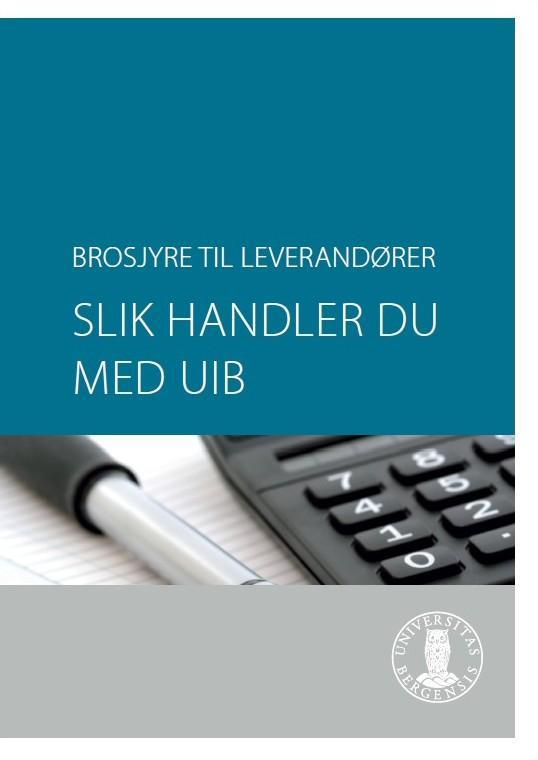 Faksimile av forside til leverandørbrosjyre fra Kontor for innkjøp