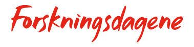 Logo for Forskningsdagene - kun skrift