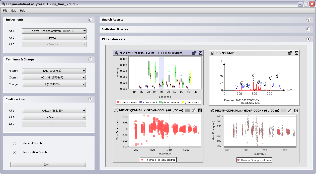 Screenshot from Fragmentation Analyzer