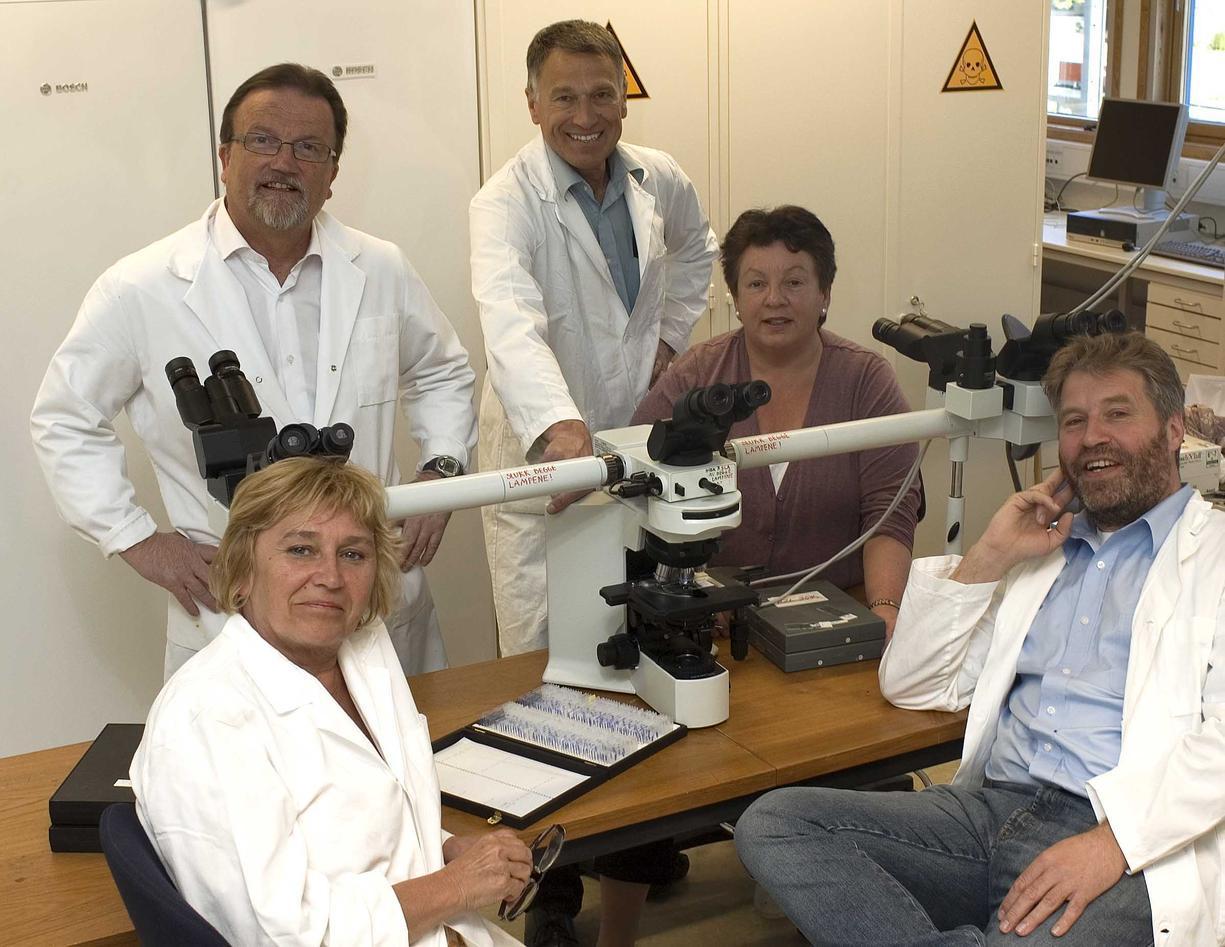 Faculty and staff. From left: Teresa Cieplinska, Geir K. Totland, Harald...