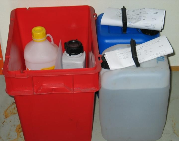 Disposing of hazardous waste.